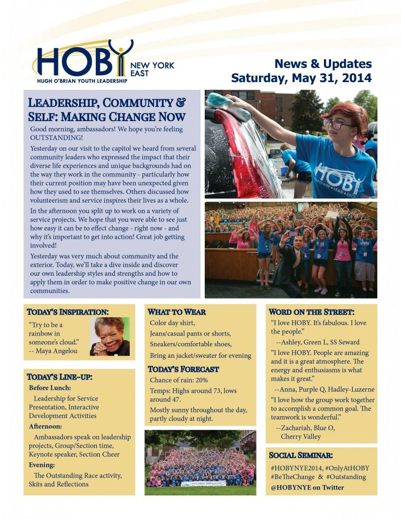 NYE Newsletter - Saturday